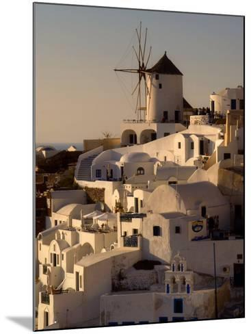 Restored Windmill Above Homes-Diana Mayfield-Mounted Photographic Print