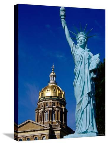Statue of Liberty, State Capitol Grounds, des Moines, Iowa-Richard Cummins-Stretched Canvas Print