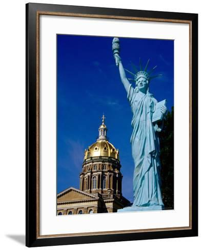 Statue of Liberty, State Capitol Grounds, des Moines, Iowa-Richard Cummins-Framed Art Print