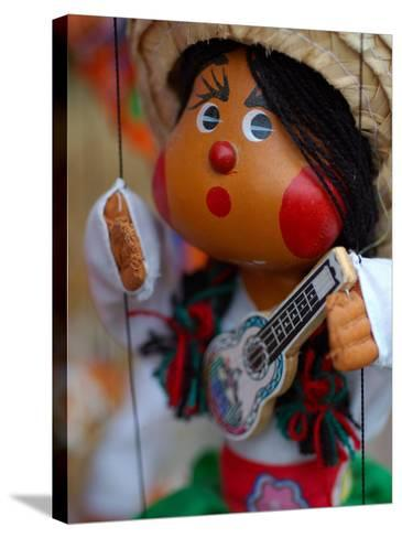 Traditional Mexican Puppet at Street Stall near Playa de Los Muertos in Zona Romanica, Mexico-Anthony Plummer-Stretched Canvas Print