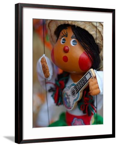 Traditional Mexican Puppet at Street Stall near Playa de Los Muertos in Zona Romanica, Mexico-Anthony Plummer-Framed Art Print