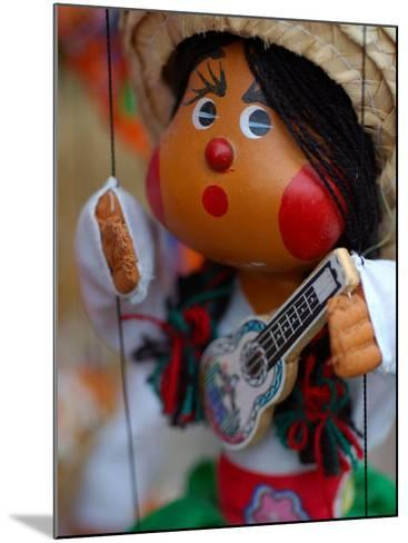 Traditional Mexican Puppet at Street Stall near Playa de Los Muertos in Zona Romanica, Mexico-Anthony Plummer-Mounted Photographic Print