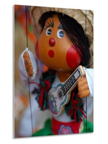 Traditional Mexican Puppet at Street Stall near Playa de Los Muertos in Zona Romanica, Mexico-Anthony Plummer-Metal Print