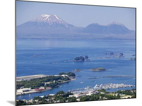 Town with Mt. Edgecumbe in Background, Sitka, Alaska-Brent Winebrenner-Mounted Photographic Print