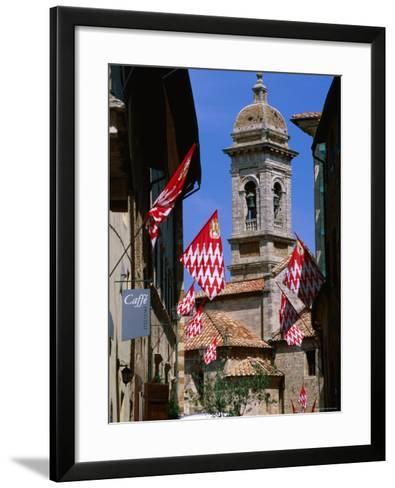 Collegiata, San Quirico d'Orcia, Tuscany, Italy-John Elk III-Framed Art Print