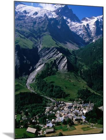 Le Chazalet, La Grave Village Below, with la Meije Rhone-Alpes, France-John Elk III-Mounted Photographic Print