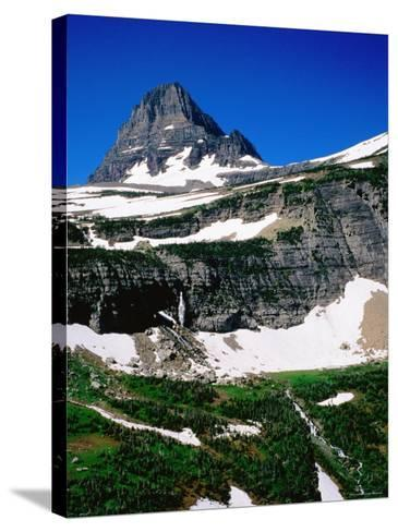 Mid-Summer Snow on Mountain, Glacier National Park, Montana-Holger Leue-Stretched Canvas Print