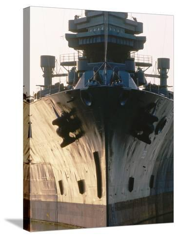 Battleship USS Texas, Houston, Texas-Holger Leue-Stretched Canvas Print