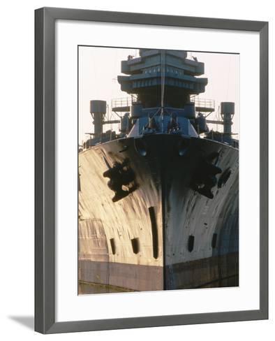 Battleship USS Texas, Houston, Texas-Holger Leue-Framed Art Print