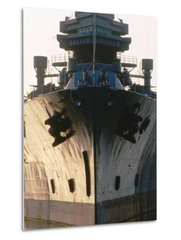 Battleship USS Texas, Houston, Texas-Holger Leue-Metal Print