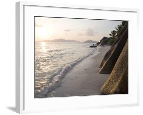 Coastline at Sunset, La Digue Island-Holger Leue-Framed Art Print
