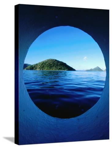 Islands Seem from Star Clipper Porthole, Tortola-Holger Leue-Stretched Canvas Print