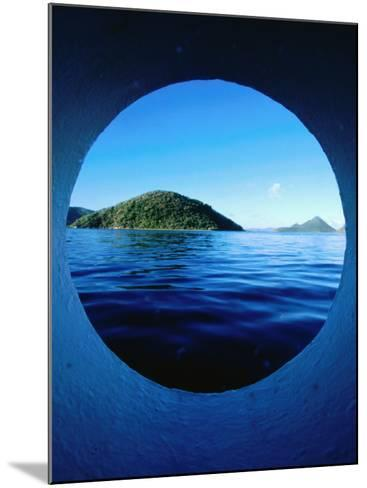 Islands Seem from Star Clipper Porthole, Tortola-Holger Leue-Mounted Photographic Print
