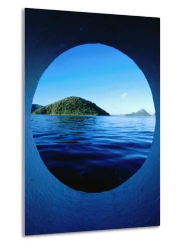 Islands Seem from Star Clipper Porthole, Tortola-Holger Leue-Metal Print