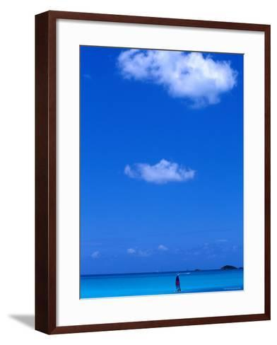 Jolly Bay Seen from Cocos Resort, St John'S-Holger Leue-Framed Art Print
