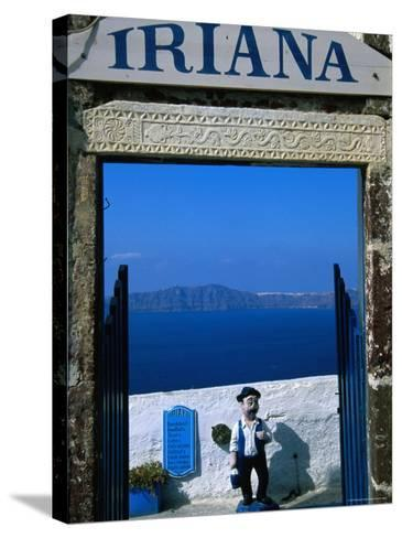 Iriana Cafe and Bar, Santorini, Greece-Glenn Beanland-Stretched Canvas Print