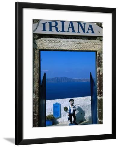 Iriana Cafe and Bar, Santorini, Greece-Glenn Beanland-Framed Art Print