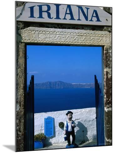 Iriana Cafe and Bar, Santorini, Greece-Glenn Beanland-Mounted Photographic Print