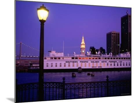 Ferry Building from Pier 5, Dusk, San Francisco, California-Thomas Winz-Mounted Photographic Print