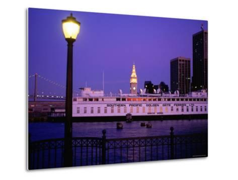 Ferry Building from Pier 5, Dusk, San Francisco, California-Thomas Winz-Metal Print