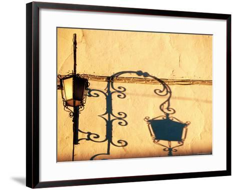 Lantern and Shadow at Church of Victoria, Archidona, Andalucia, Spain-Witold Skrypczak-Framed Art Print