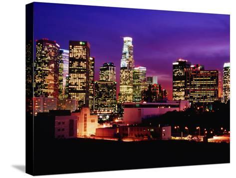 City Skyline, Los Angeles, California-Richard Cummins-Stretched Canvas Print