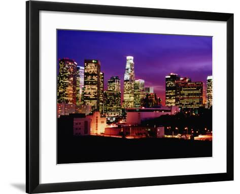City Skyline, Los Angeles, California-Richard Cummins-Framed Art Print