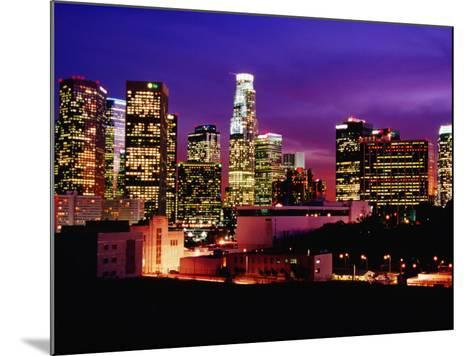 City Skyline, Los Angeles, California-Richard Cummins-Mounted Photographic Print