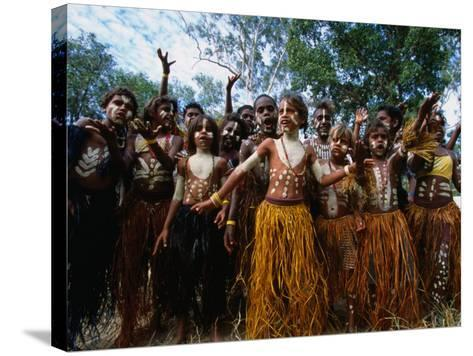 Lockhart River State School Dance Troupe, Cape York Peninsula, Queensland, Australia-Oliver Strewe-Stretched Canvas Print