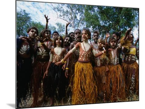 Lockhart River State School Dance Troupe, Cape York Peninsula, Queensland, Australia-Oliver Strewe-Mounted Photographic Print