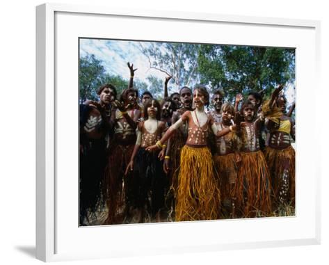 Lockhart River State School Dance Troupe, Cape York Peninsula, Queensland, Australia-Oliver Strewe-Framed Art Print