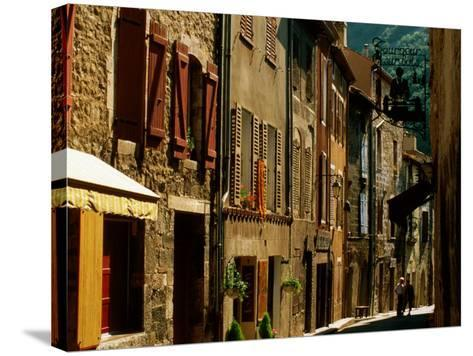 Houses and Other Buildings, Rue St. Jean, Villefranche de Conflent, Languedoc-Roussillon, France-David Tomlinson-Stretched Canvas Print
