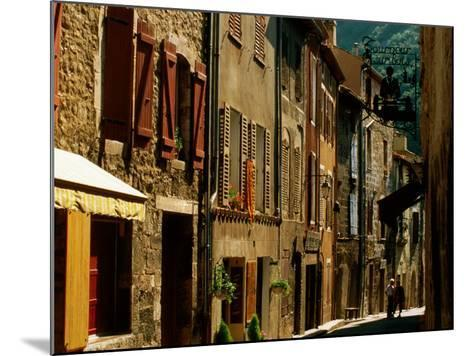 Houses and Other Buildings, Rue St. Jean, Villefranche de Conflent, Languedoc-Roussillon, France-David Tomlinson-Mounted Photographic Print
