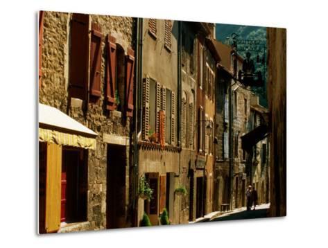 Houses and Other Buildings, Rue St. Jean, Villefranche de Conflent, Languedoc-Roussillon, France-David Tomlinson-Metal Print