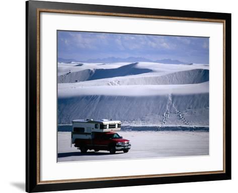 Campervan Near Dunes, White Sands National Monument, New Mexico-Mark Newman-Framed Art Print