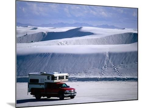 Campervan Near Dunes, White Sands National Monument, New Mexico-Mark Newman-Mounted Photographic Print