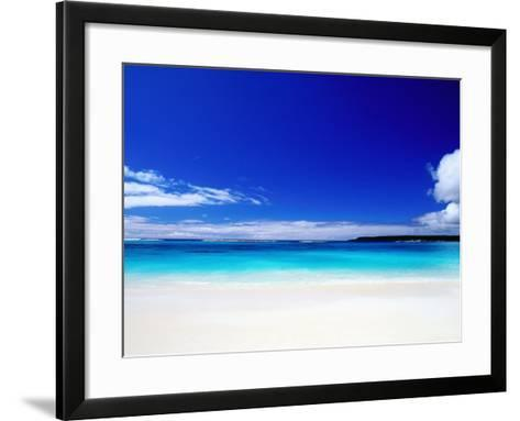 Bay of Chateaubriand, Lifou Island, Loyalty Islands, New Caledonia-Peter Hendrie-Framed Art Print