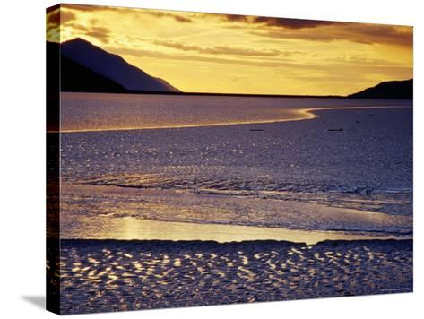 Low Tide at Turnagain Arm, Cook Inlet, Seward Scenic Highway, Seward, Alaska-Richard Cummins-Stretched Canvas Print