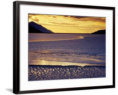 Low Tide at Turnagain Arm, Cook Inlet, Seward Scenic Highway, Seward, Alaska-Richard Cummins-Framed Art Print