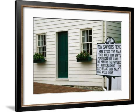 Mark Twain Boyhood Home and Museum, Hannibal, Missouri-Richard Cummins-Framed Art Print
