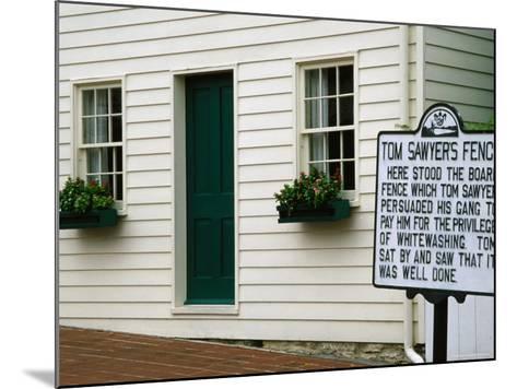 Mark Twain Boyhood Home and Museum, Hannibal, Missouri-Richard Cummins-Mounted Photographic Print