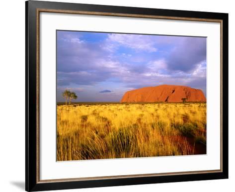 Uluru, Uluru-Kata Tjuta National Park, Northern Territory, Australia-John Banagan-Framed Art Print