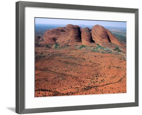 Kata Tjuta, Uluru-Kata Tjuta National Park, Northern Territory, Australia-John Banagan-Framed Art Print