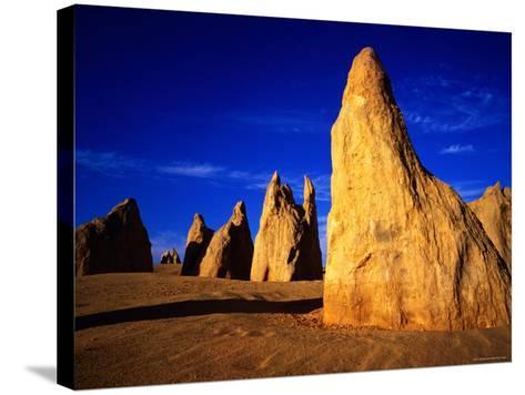 Eroded Rock Formations, Pinnacles Desert, Western Australia-John Banagan-Stretched Canvas Print