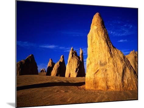 Eroded Rock Formations, Pinnacles Desert, Western Australia-John Banagan-Mounted Photographic Print