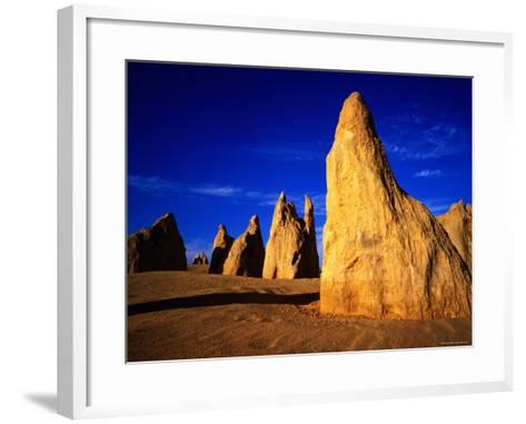 Eroded Rock Formations, Pinnacles Desert, Western Australia-John Banagan-Framed Art Print