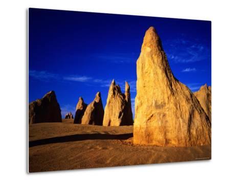 Eroded Rock Formations, Pinnacles Desert, Western Australia-John Banagan-Metal Print