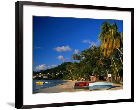 Boats on Shore of Grand Anse Beach, St. George's, St. George, Grenada-Margie Politzer-Framed Art Print