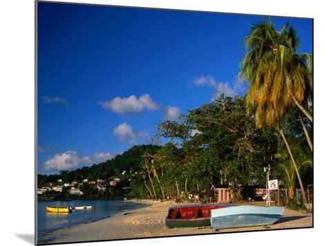 Boats on Shore of Grand Anse Beach, St. George's, St. George, Grenada-Margie Politzer-Mounted Photographic Print