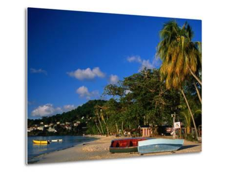 Boats on Shore of Grand Anse Beach, St. George's, St. George, Grenada-Margie Politzer-Metal Print